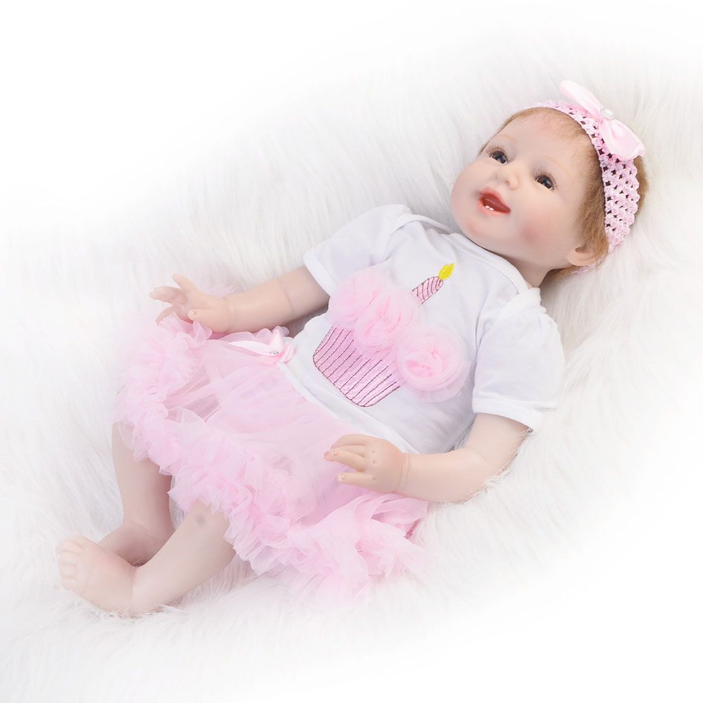 Romper Tiered Skirt Headband Set for 22-23inch Reborn Baby Girl Doll Clothes