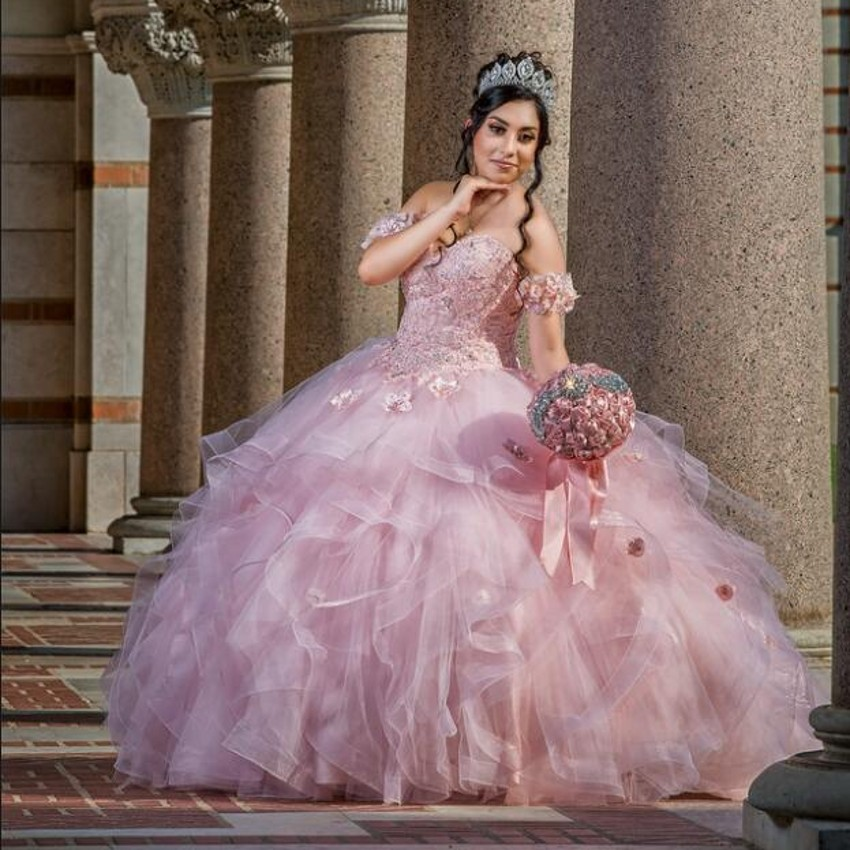Long Ball Gown Quinceanera Dre...
