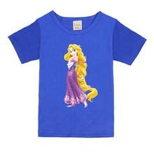 1-8 years baby Girl t-shirt big Girls tee shirts for children girl long hair princess t shirt 100% cotton kids summer clothes