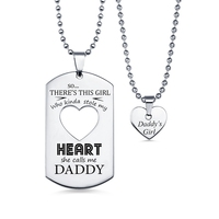 Sweey Dropshipping Personalized Couples Dog Tag Necklace With Cut Out Heart Personalized Jewelry Heart Choker Best Gift