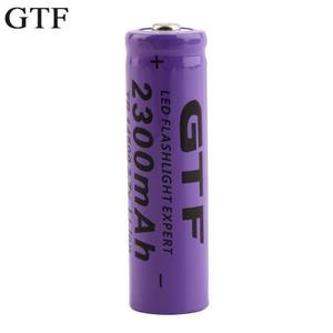 GTF Li-Ion-Battery Flashlight Rechargeable-Batteries 14500 Lithium Torch 2300mah