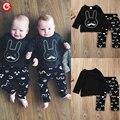 2017 Newborn Baby Clothing Set Boys Rabbit 2pcs/Suits(Long Sleeve T shirt+Pants) Infantil Cotton Clothes Outfits 7-24M