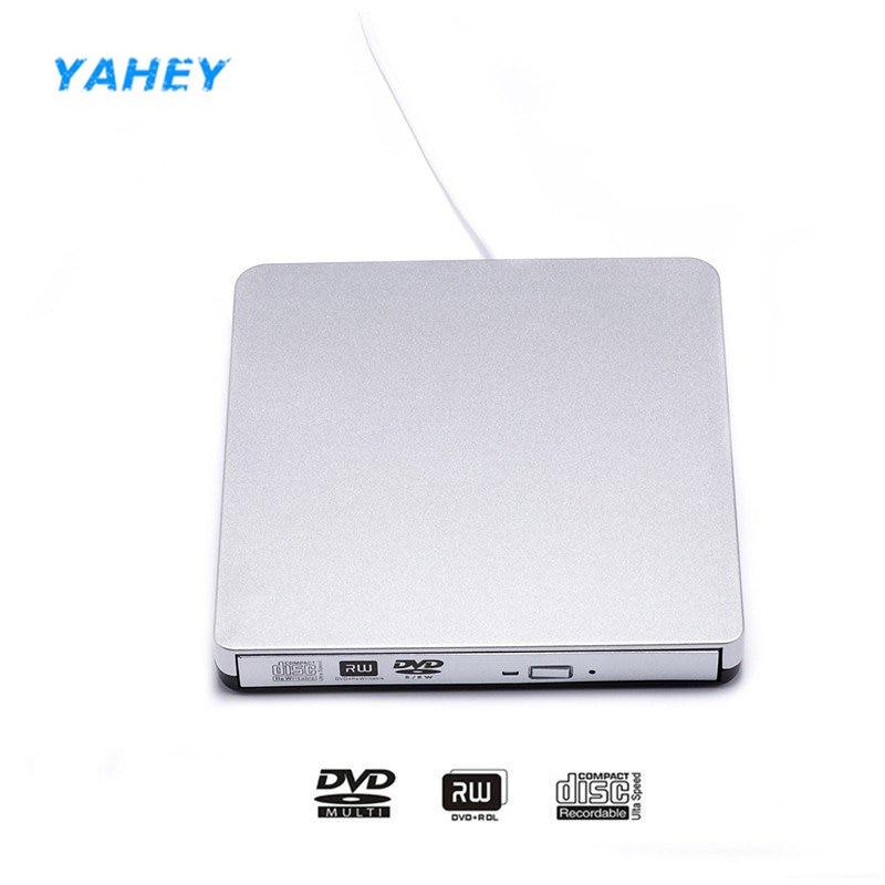 USB 2.0 DVD Drive External DVD/CD RW Writer Recorder Burner Optical Drive DVD-ROM Player Portable for Laptop Desktop Windows 10