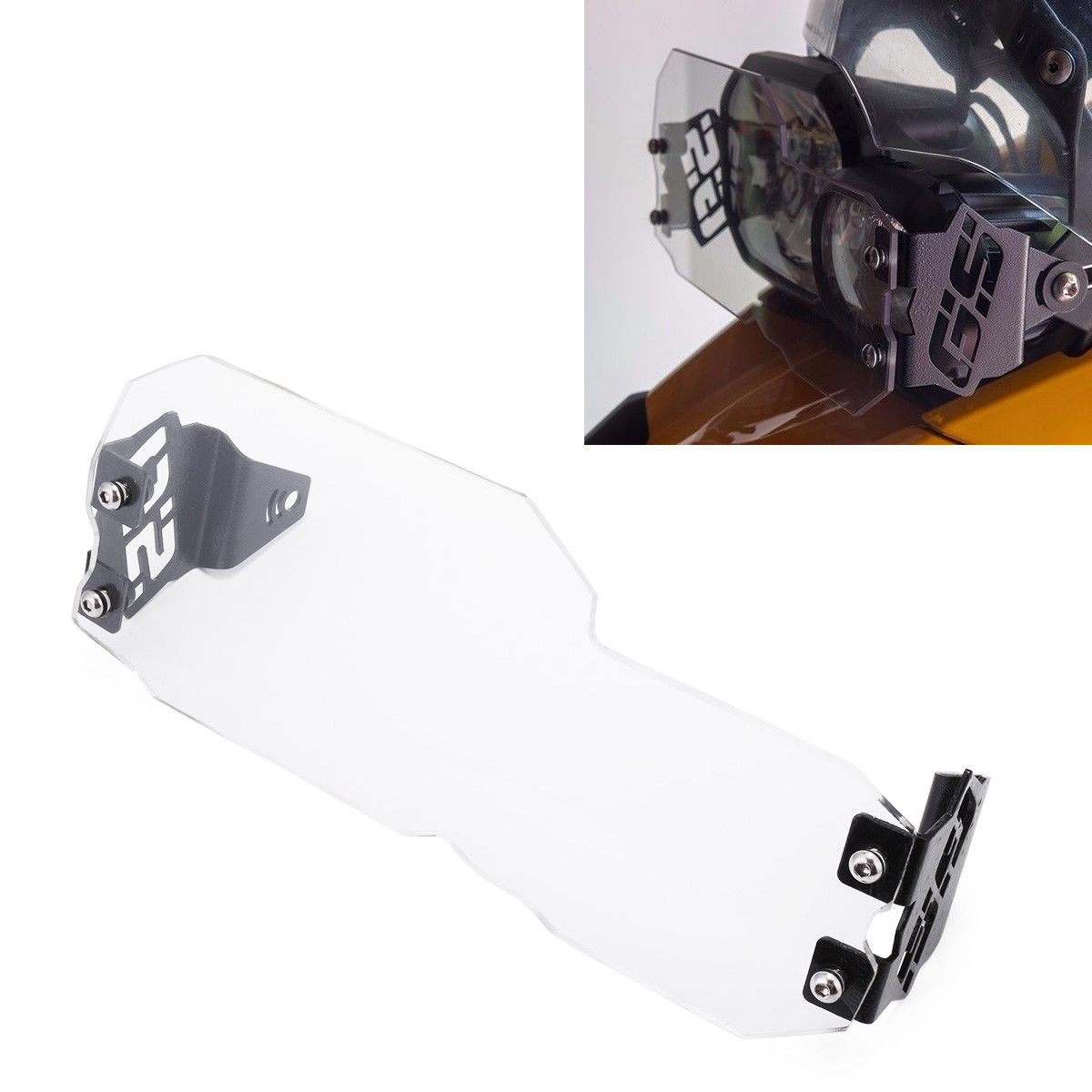 Plastic Clear Headlight Guard GS Style Set for BMW F650GS F700GS F800GS 2008-2016 F650GS 2008-2013 D15