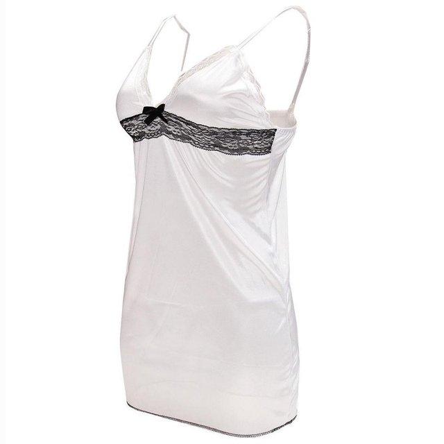 Sexy Women Lingerie Lady Underwear Lace Night Dress White Babydoll Sleepwear with G-string Sleeping Wear Lack Tight Bow