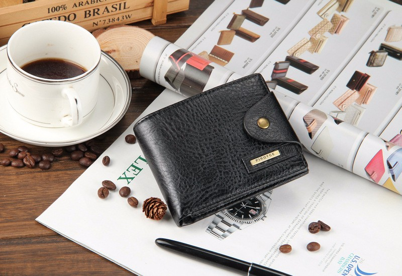 2018 New brand high quality short men's wallet ,Genuine leather qualitty guarantee purse for male,coin purse