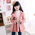 Kids 2016 girls double-breasted coat girls autumn coat baby girl clothes