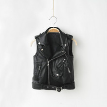 Boys vest Faux Leather toddler girl vest children vests for boys and girls Spring and Autumn PU tank top Fashion Winter clothes children autumn and winter warm clothes boys and girls thick cashmere sweaters