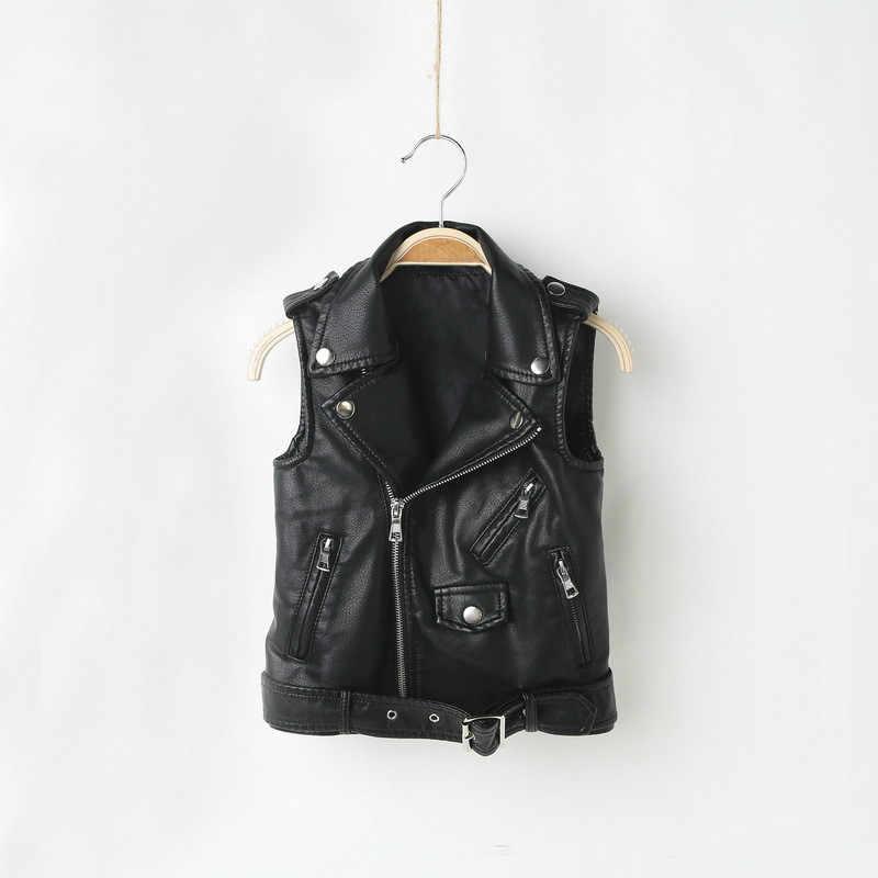 Jongens vest Kunstleer peuter meisje vest kinderen vesten voor jongens en meisjes en Najaar PU tank top Fashion winter kleding