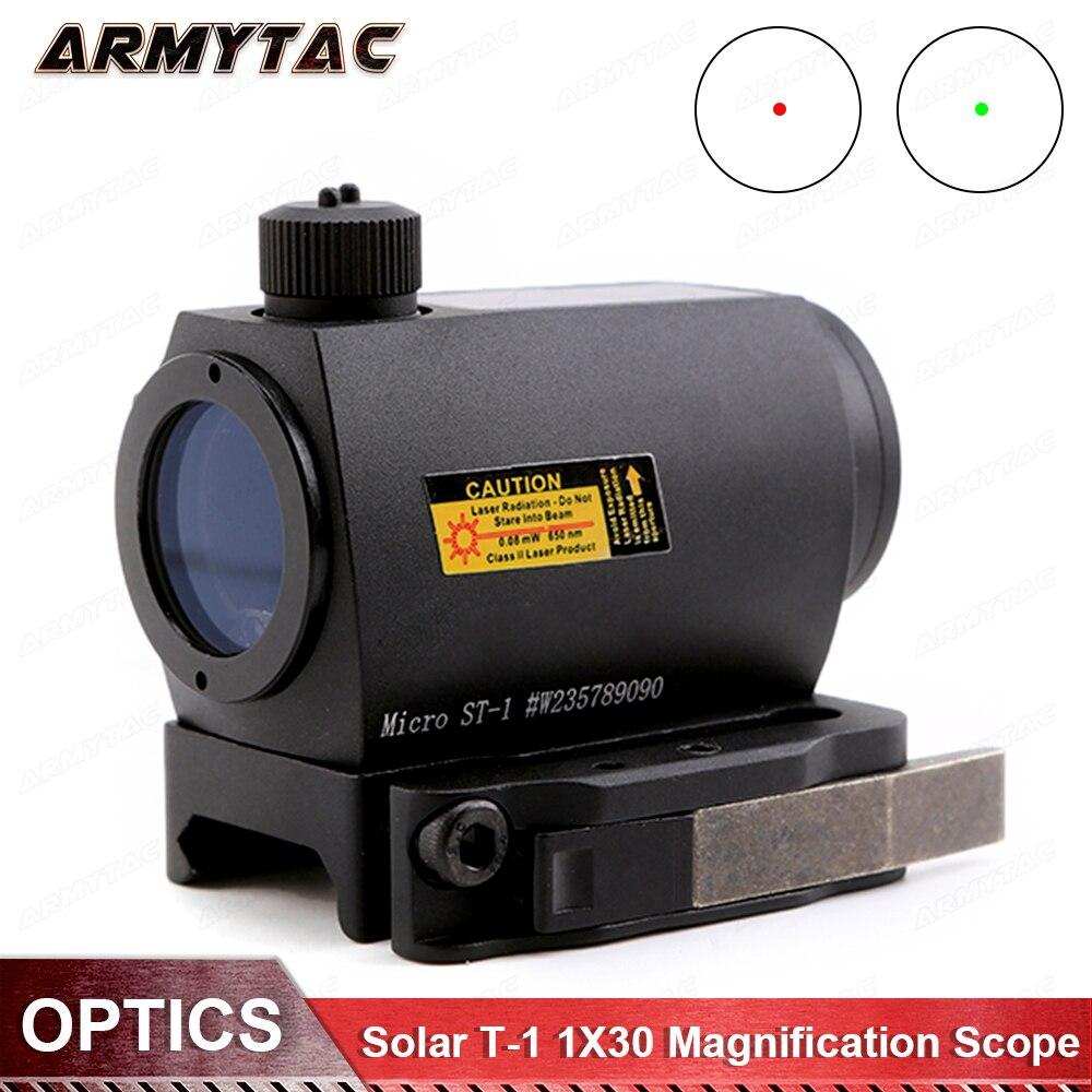 ArmyTac Red Dot Sight Solar T-1 1X30 Magnification Scope Hunting Riflescope мозаика chakmaks krista daisy 1 5x6 2 30 1x30 1