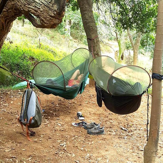 dual purpose hammock camping survival garden hunting leisure travel double person portable parachute hammocks dual purpose hammock camping survival garden hunting leisure      rh   aliexpress