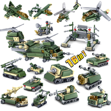 KAZI 401pcs Building Blocks Military Weapons 16 Assemblage 1 Tank Self-Locking army Bricks children Toys Compatible Legoed