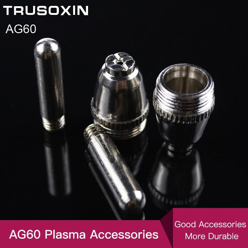 20 pièces Air Plasma Cutter AG-60 torche de coupe/tête de pistolet consommable pour CUT40/50/60A accessoires conseils électrodes