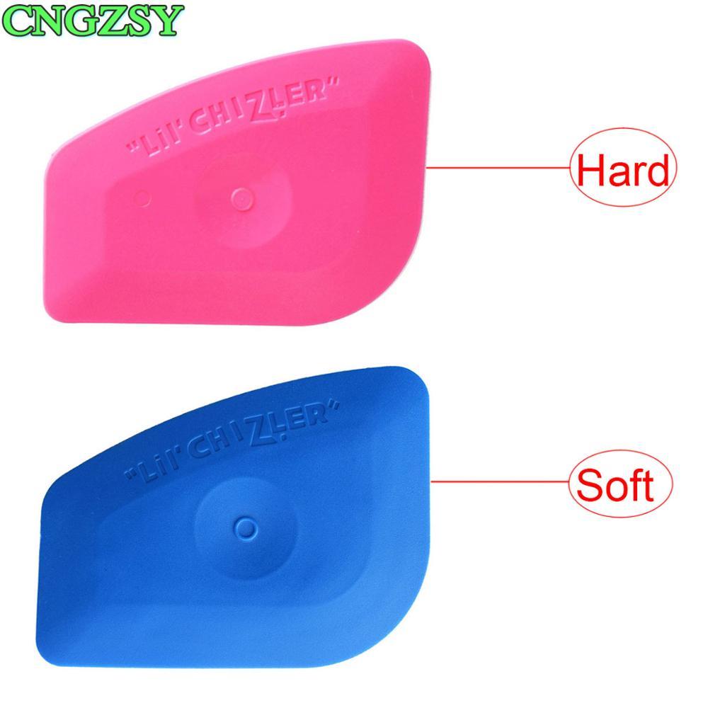 Soft Blue Squeegee Hard Pink LIL' CHIZLER Scraper Vinyl Car Wrap Tools Auto Foil Corner Trim Window Tint Installation Tools A25B