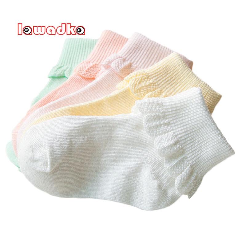 Lawadka 10 Pieces/lot=5Pairs Cotton Kids Socks Fashion Sport Short Socks Baby Girls Socks 1