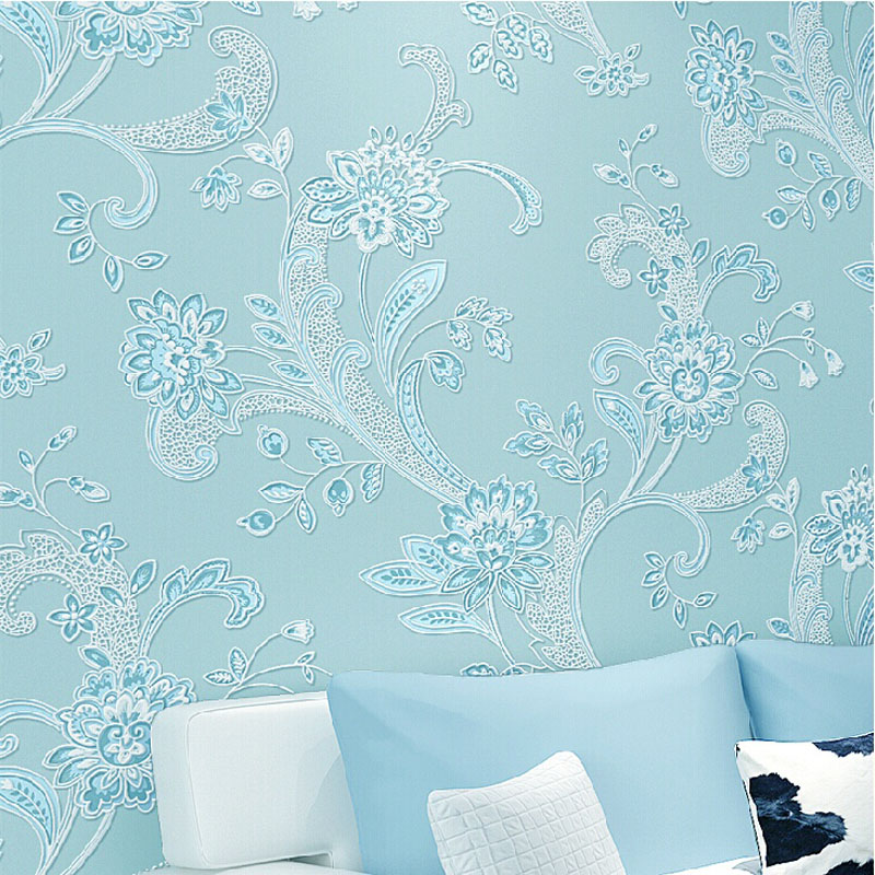 Modern 3D Wall Paper Roll Floral Romantic Flower wallpapers for Bedroom,Living Room,Non-Woven wallpapers Roll papel de parede modern wall papers home decor rustic romantic small flower non woven wallpaper roll for bedroom wallpapers floral for walls