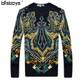 2016 Spring and autumn winter Crown pattern skin-friendly modal sweater O-Neck long-sleeved casual Pullover Mens Sweaters A35