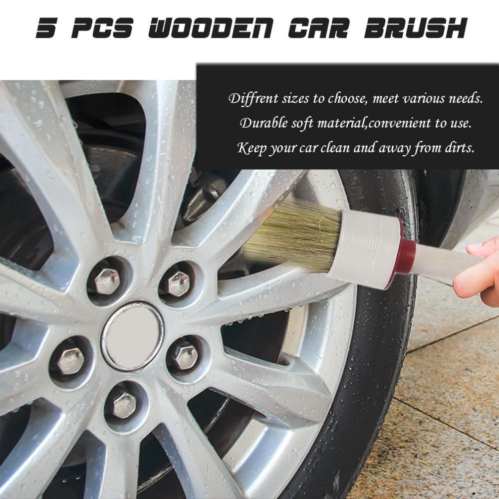 Brosse de voiture véhicule de nettoyage toolswood poignée intérieur emblèmes air vent detailing brosse aucun logo