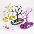 2pcs Plastic Earring Ring Necklace Bangle Bracelet Display For Jewelry Set Display Stand Holder High Quality