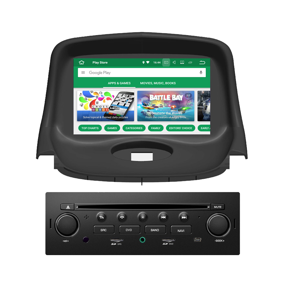 RoverOne Android 8.0 Car Multimedia System For <font><b>Peugeot</b></font> <font><b>206</b></font> 206CC 206SW Radio Stereo DVD GPS Navigation Media Music Player image