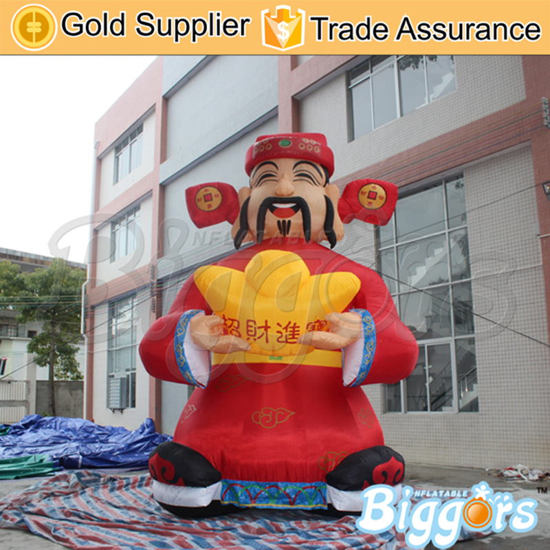 Lucky Advertising Inflatable God of Wealth Decoration Inflatable Fortune Advertising 2 m advertising figure despicable me advertising inflatable minion