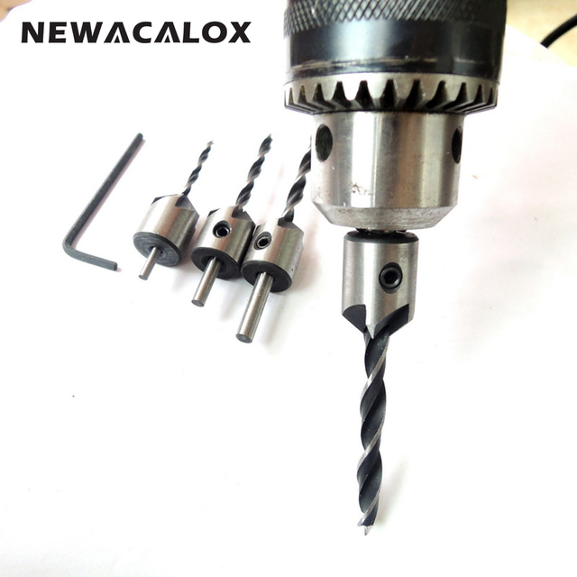 4PC Wood Countersink Drill Bit Set Woodworking Electric Carving Tools Boring Counterbore Chamfer Bore Hole Cutter Mill Cutter