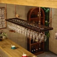 120 200 см кованого железа дома и винный бар Стекло стойки висит большой рюмки держатель под кабинет Кухня бар и вина Инструменты