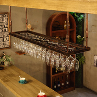 120 200cm Wrought iron Home and bar Wine Glass Rack Hanging Large Stemware Holder Under Cabinet Kitchen Bar & Wine Tools