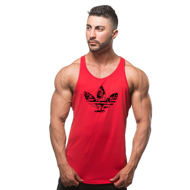New Fashion Cotton Gyms   Tank     Tops   Men Sleeveless Tanktops For Boys Bodybuilding Clothing Undershirt Fitness Stringer Vest