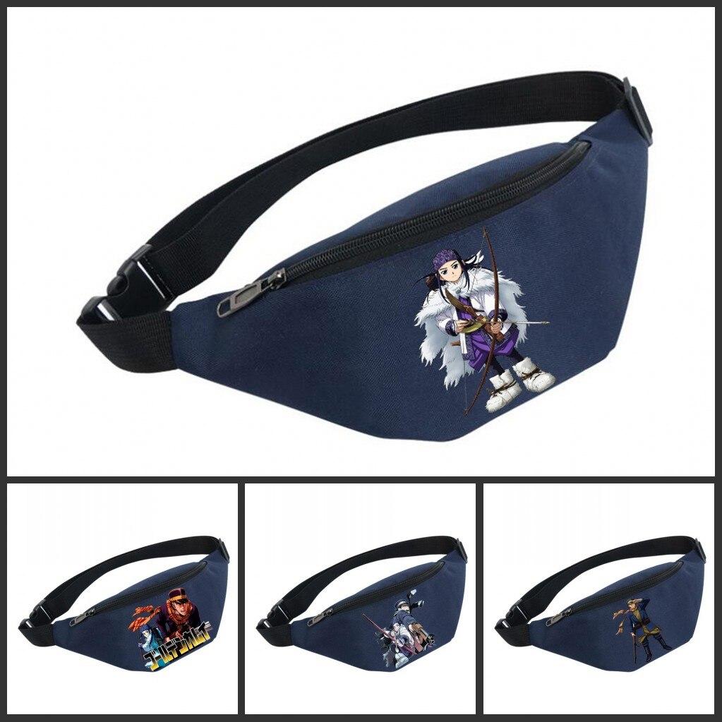 Waist Bag Women Belt Waterproof Chest Handbag Unisex Fanny Pack Ladies Waist Pack Belly Bags For Golden Kamuy