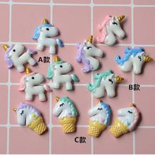 Unicorn Theme DIY  Resin Accessories Mobile Phone Shell Material Refrigerator Stickers Home Decoration