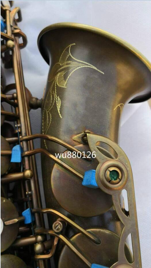 Nouveau Mark VI Eb air Alto Saxophone en laiton Tube Unique rétro Antique cuivre Surface saxo Instrument de musique avec étui livraison gratuite