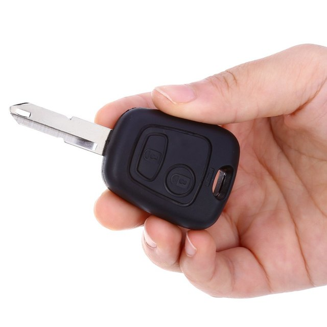 A27 Car Remote Key Holder Case Shell 2-button Protecting Cover for Peugeot Easy to Install Protect Buttons From Excessive Wear