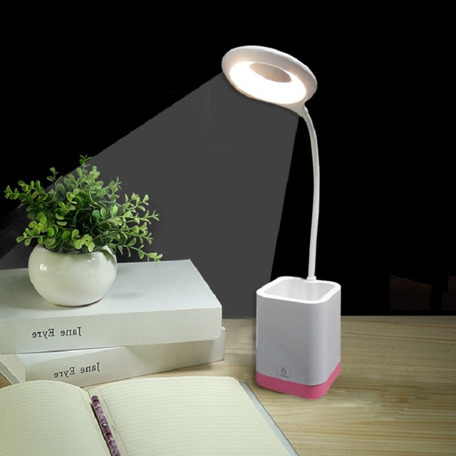 Pen holder type led small table lamps eyes protection touching pen holder type led small table lamps eyes protection touching switch dimmable bedside bedroom reading learning aloadofball Image collections