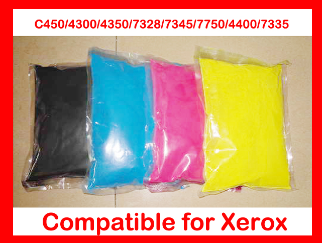 High quality color toner powder compatible Xerox C450 4300 4350 7328 7345 7750 4400 7335 refill toner,color powder free shipping free shipping compatible for xerox 7328 7335 7345 7346 chemical color toner powder printer color powder 4kg