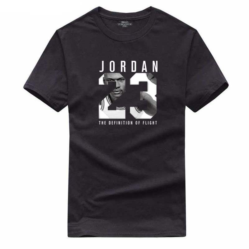 Summer Hot Man's Jordan 23 T Shirts Cotton Men O-neck Fashion Printed 23 Hip-Hop Tee Camisetas Men Clothing Casual Top(China)