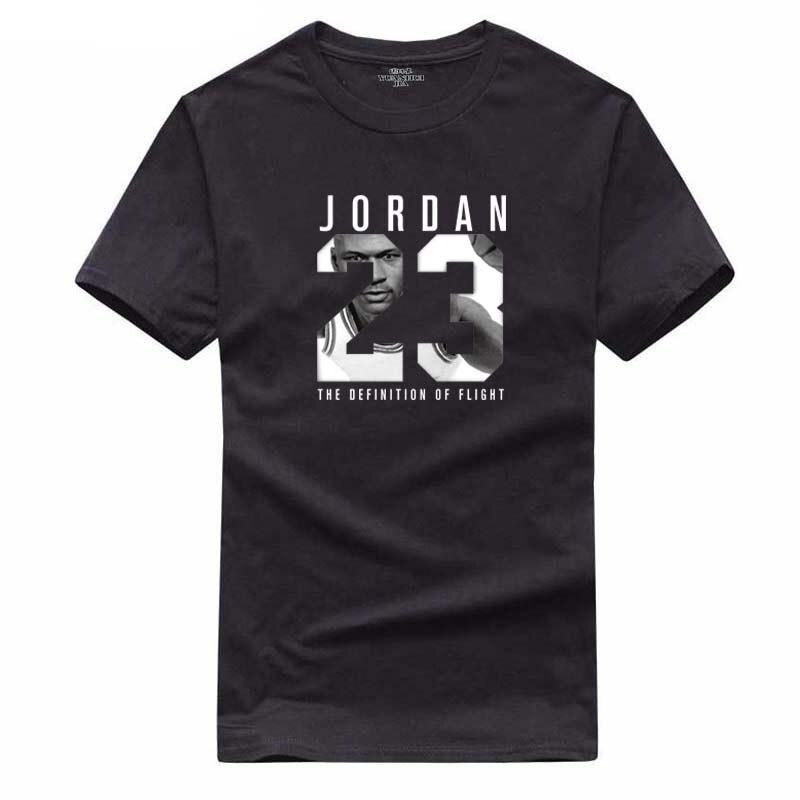 Sommer Heißer Mann der Jordan 23 T Shirts Baumwolle Männer Oansatz Mode Gedruckt 23 Hip-Hop T-stück T-shirt Männer Kleidung Lässige Top