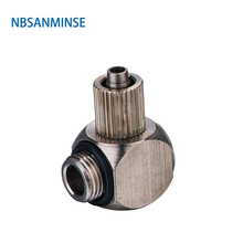 Free Shipping 10Pcs/Lot Pneumatic Air Push On Fittings Elbow Mini High Quality Sanmin