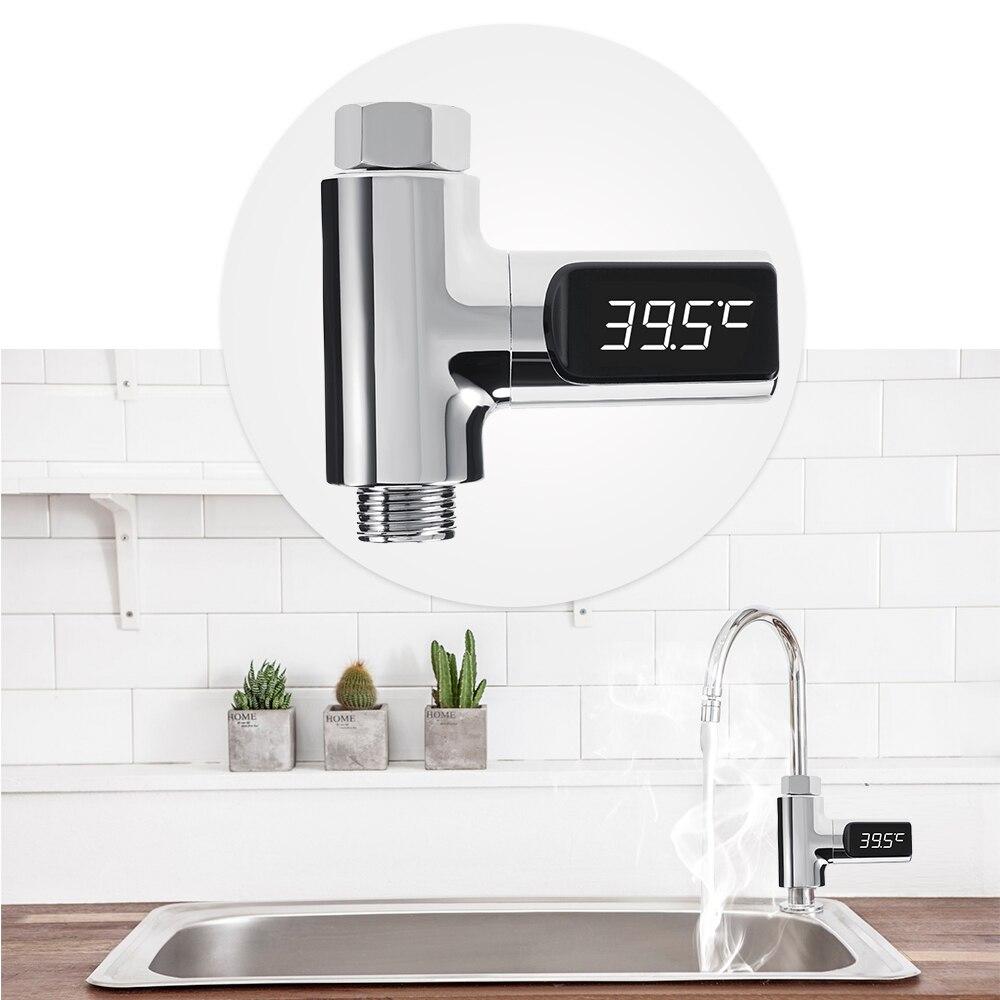 Xiaomi Display LED Chuveiro de Água Em Casa Termômetro Monitor de Temperatura Da Água Medidor de Fluxo de Auto-Geração de Energia Elétrica Para Cuidados Com O Bebê