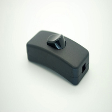 10pcs/lot KCD1-112 black single-grain online switch card - type head board lamp arc curved line button free of screws