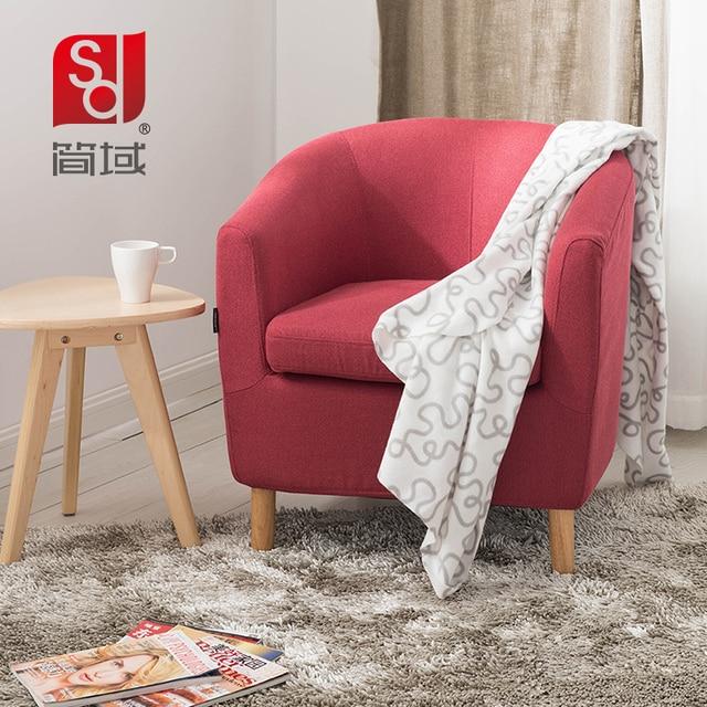 Charmant Jane Domain Einzel Sessel Stoff Sofa Kleine Wohnung Sofa Stoff Um Die Holz  Stuhl IKEA Sofa