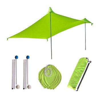 ABGZ-210x210Cm toldo sombrilla de playa al aire libre toldo tienda de Camping Cool protector solar dosel UV portátil carpa de pesca Camping