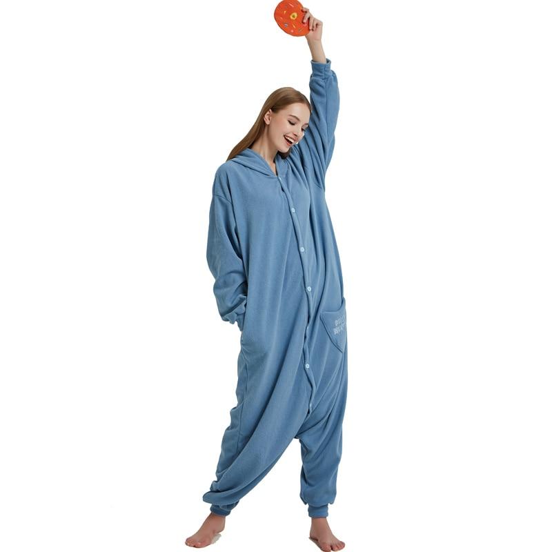 Cookie Monster Kigurumi Cartoon Onesie Jumpsuit Adult Sesame Street Pajamas For Women Sleepwear Pyjamas Cosplay Halloween Party (2)