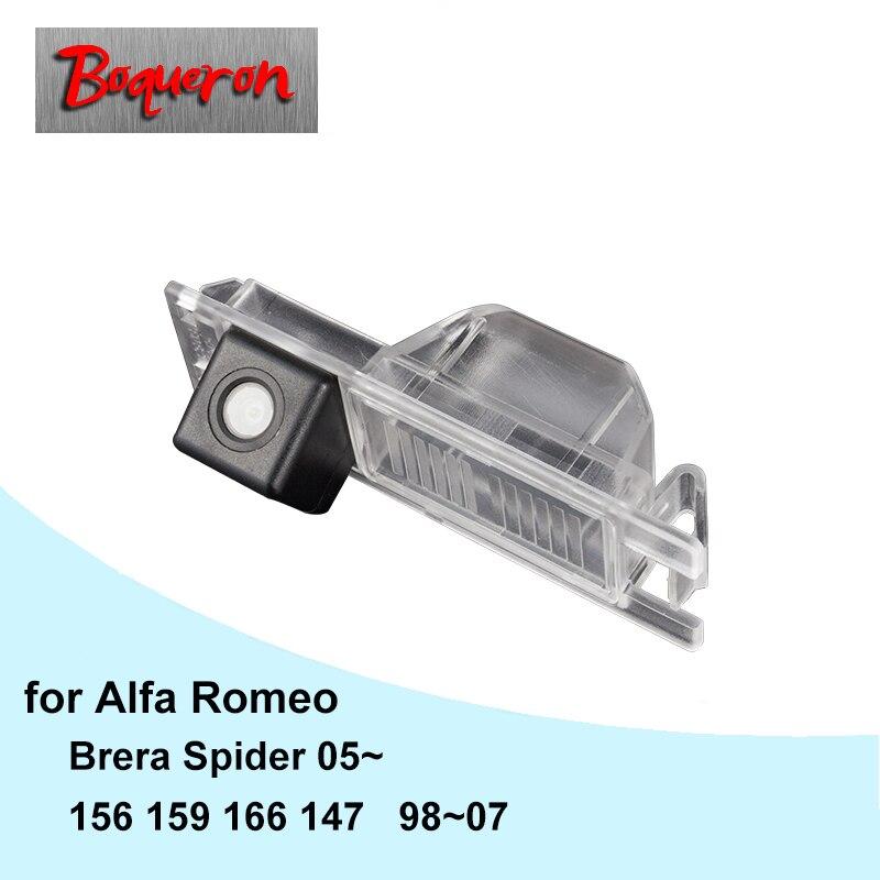 Бокерон для Alfa Romeo 156 159 166 147 Brera паук 05-HD CCD Водонепроницаемый автомобиля Камера Реверсивный резервного копирования камера заднего вида