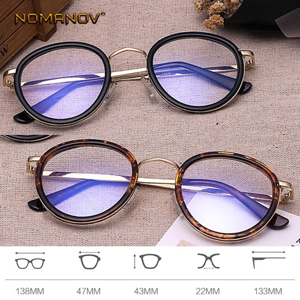 Damenbrillen Nachdenklich Mode Retro Runde Schwarz Leopard Rahmen Maß Eine Optische Linsen Oder Photochrome Grau/braun Linsen-0,5-1 Zu-6