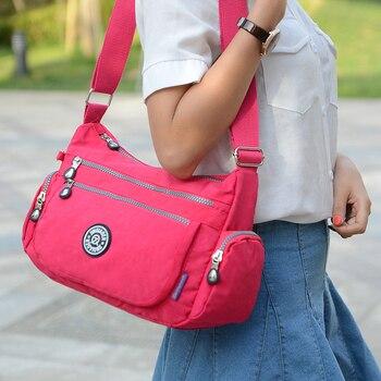 Bolsos De Mujer 2016 Nuevo bolso de hombro de mujer impermeable bolsa de nailon bolsa femenina bolsa de mensajero bolsos