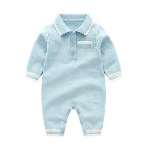 Image 4 - תינוק לסרוג בנים Rompers ארוך שרוול סרוג יילוד תינוק בגדים חם ילד של סתיו בגדי סריגה Rompers 0 24m חמוד סרבל