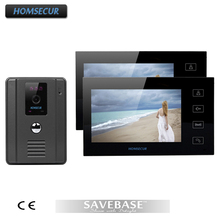 "HOMSECUR 7"" Wired Video Door Phone Doorbell Home Security Intercom System 2-In 1-Out(China)"