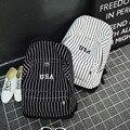 """Слово """" сша """" девушки женщин полосатый холст рюкзак досуга школьные рюкзаки для подростков путешествия рюкзак"""
