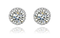 Super Flash Stud Earrings For Women Jewelry With Top Quality AAA Grade Cubic Zirconia The Real
